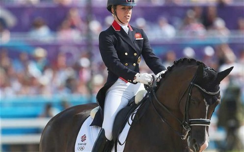 Going up | Dressage rider Charlotte Dujardin, a double gold medal winner in London, will benefit from an increase in funding for equestrian. (Image | The Telegraph)