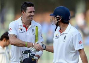 Alastair Cook and Kevin Pietersen were two of England's best performers with the bat - especially in Mumbai (Image | S. Subramanium via the Hindu Business Times)