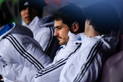 Benched | Iker Casillas looks on after being dropped for the game against Málaga. (Image | Zimbio)