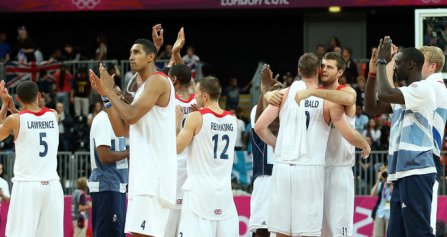 Historic | Great Britain recorded their first Olympic victory in basketball since 1948, but have suffered swingeing cuts. (Image | Sky Sports)