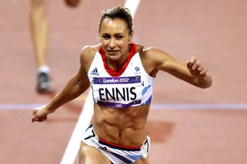 Enn-chanting | Jessica Ennis storms to first place in the 200m, part of her hepthathlon glory at London 2012. (Image | Evening Standard)