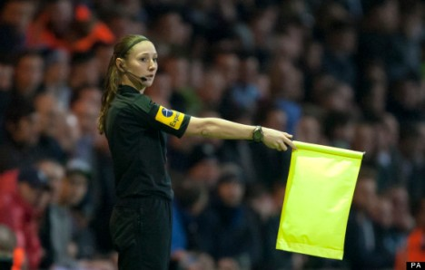 Are you Sian about that? | Massey call v Stoke. (Image | The Huffington Post)