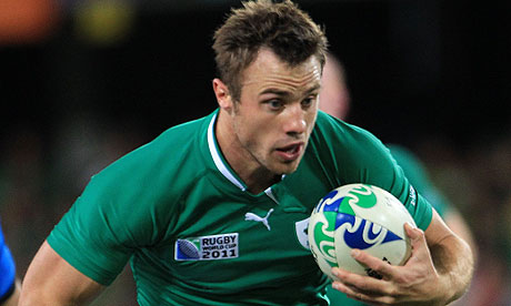 Bowe-d out   Tommy Bowe, the leading try scorer last year, has been ruled out with a knee ligament injury. (Image   The Guardian)