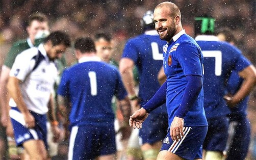 Relief | French fly half Frédéric Michalak smiles as France end their losing streak, despite his kicking difficulties. (Image | The Telegraph)