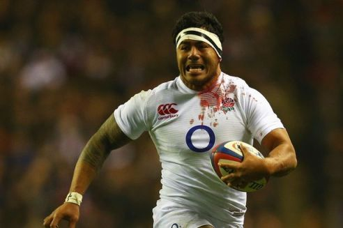 Committed | Manu Tuliagi even drew blood for England in their 23-13 victory over France last weekend. (Image | The Guardian)