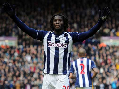 Common sight | Pictured after scoring one of his 13 goals for West Bromwich Albion, Romelu Lukaku has been a revelation at the Hawthorns. (Image | Sporting Life)