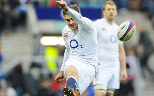 On target | England's Toby Flood kicks home the points against Italy in a flawless performance at Twickenham. (Image | The Telegraph)