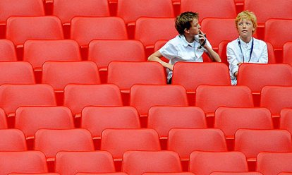 I think we're alone now | Too often in its relatively short life, Wembley has seen swathes of empty seats at major football matches. (Image | The Guardian)