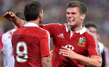 Grinning penalties | Owen Farrell kicked five penalties to help the Lions to victory over the Queensland Reds. (Image | The Telegraph)