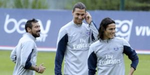 The mercurial trio of Ezequiel Lavezzi, Zlatan Ibrahimovic and Edinson Cavani are arguably the best front line Ligue 1 has ever seen (Image | AFP)