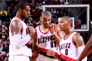 All-Star forward LaMarcus Aldridge and highly versatile wing Nicolas Batum have been joined by budding star Damian Lillard in a new core that is taking Portland places (Image | Getty)